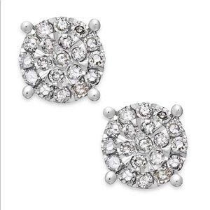 Diamond stud earrings - New with tags